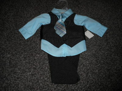 Infant Boy 4 Piece Suit Set Size Newborn New With Tags  Look