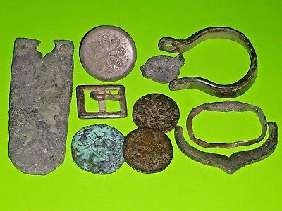COLLECTION Ancient ROMAN MEDIEVAL ARTIFACTS coin jewelry old lot antique silver