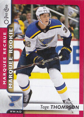 17-18 OPC Update Tage Thompson Rookie RED Parallel OPEECHEE Blues 2017