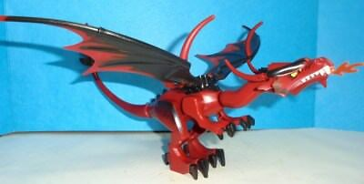 Lego New Plastic Wing Dragon with Black Spines Dark Red Splotches Piece