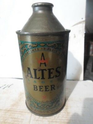 "Altes -""""detroit Michigan""""- Cone Top Beer Can"