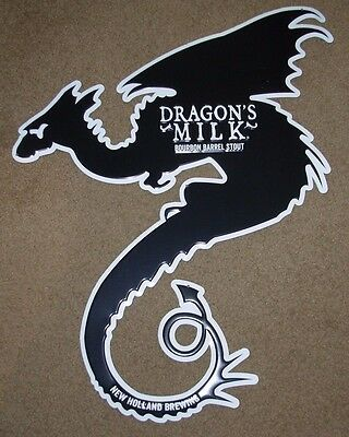 NEW HOLLAND BREWING Dragons Milk METAL TACKER SIGN craft beer brewery