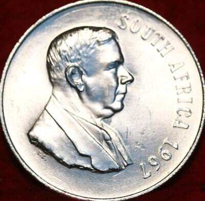 Uncirculated 1967 South Africa 1 Rand Silver Foreign Coin