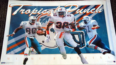 Miami Dolphins TROPICAL PUNCH 1994 Bryan Cox Bernie Parmalee Irving Fryar POSTER