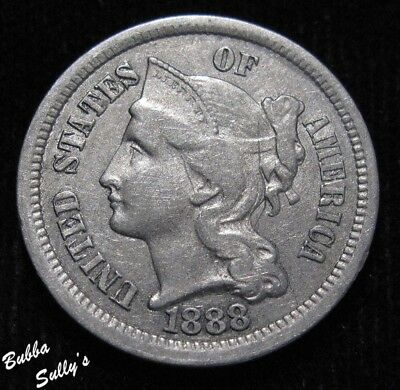 1888 III Cent Nickel <> XF to AU Details
