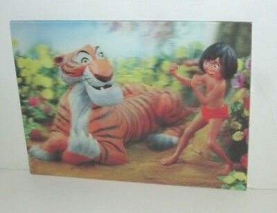 Vintage Disney W.c Jones 1966 3-D Postcard Mowgli & Shere Khan Jungle Book Japan