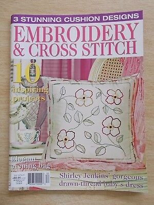 Embroidery & Cross Stitch Vol 14 #6~Magnolia~Mint Julep DMC~Dress~Bible Cover