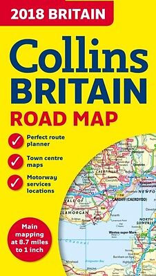 COLLINS MAP OF BRITAIN 2018, Collins Maps, 9780008214586