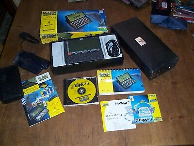 PSION series 5 handheld computer in box with accesories