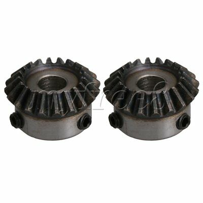 2PCS 8mm Hole Dia 20T 1.25 Module 45# Steel Tapered Bevel Gear Wheel
