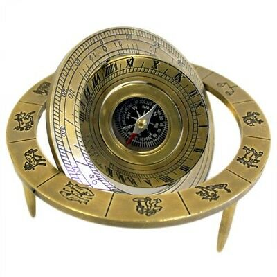Collectible  star sign astrological Antique reproduction compass brass