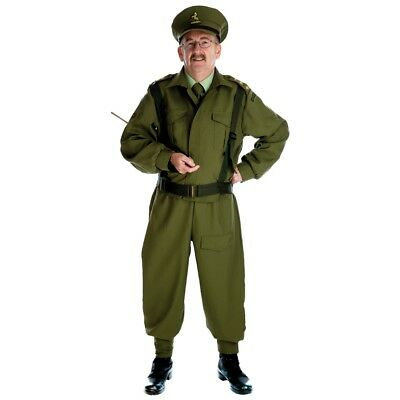 Medium Men's British Home Guard Officer Costume - Fancy Dress Army WW2 Soldier