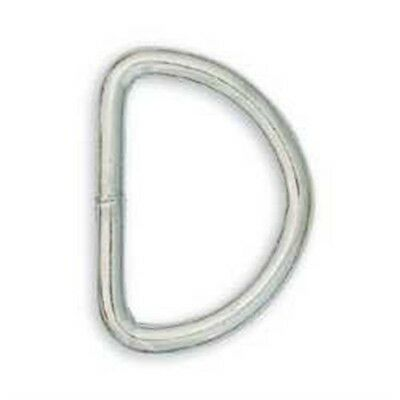 "Tandy Leather Solid D-ring 5/8"" (1.6 Cm) Nickel Plated 10/pk 1128-12 - Pack 10"