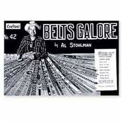 Belts Galore Leather Craft Book - Belt Making Patterns Designs Leather Tandy