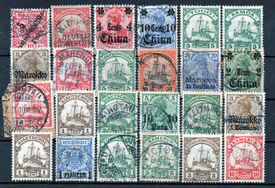 German Colonies and Offices Abroad, used/unused (1662