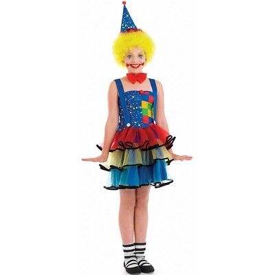 Costume De Clown Des Filles Moyennes - Child Cute Age Girls Fancy Dress Fun