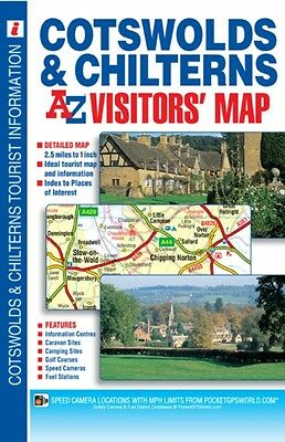 Cotswolds & Chilterns Visitors Map (A-Z Visitors Map) (Map), Geog...