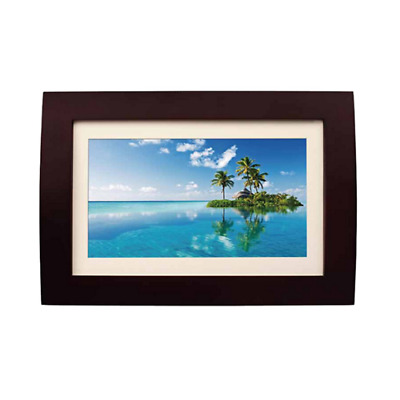 Sylvania SDPF1089-C 10-Inch LED Multimedia Wood Finished Digital Photo Frame