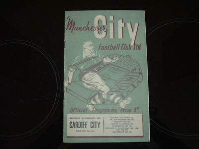 Manchester City V Cardiff City - Division 1 1954/55 Season