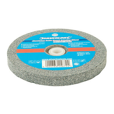 Silverline Aluminium Oxide Bench Grinding Wheel 125 x 13mm Medium | 553559