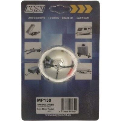 Maypole Mp130 Towball Cap, Chrome - Cap Chromed Cover