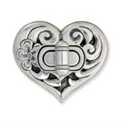 Antique Silver Plate Heart Bag Clasp - Tandy Leathercraft 2 x 78 1130300