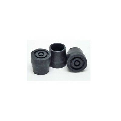 19mm Paire D'embouts En Caoutchouc - D Rubber Ferrule Type Black D19 Walking