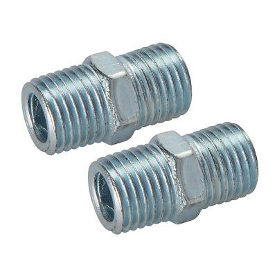 "Genuine Silverline Air Line Equal Union Connector 2pk 1/4"" BSPT 