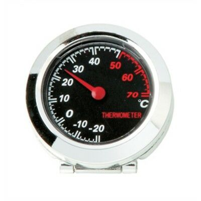 Vehicle Chrome Plated Thermometer - Car Dashboard Chromed Temperature Tilted