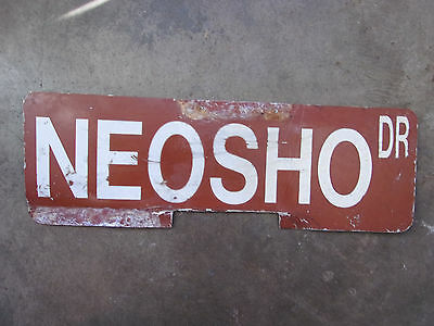 Road Street Advertising Sign Retired Neosho Dr Used Double sided As Is