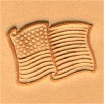 Usa Flag Craftool 3-d Stamp Item #88354-00 By Tandy Leather - 3d 8835400