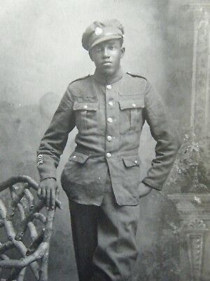 Id'ed Black Canadian Soldier - Real Photo Postcard