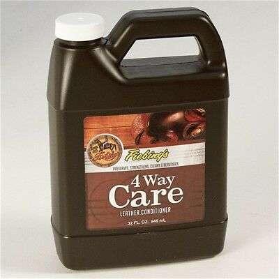 946ml Fiebing's Leather Conditioner - Fiebings 4 Way Care Preserves Strengthens
