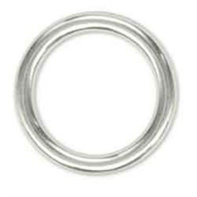 "1"" Nickel Plated Solid Ring - 1 10 Pk Leathercraft Crafts Tandy 118110"