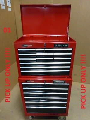 CRAFTSMAN 26INCH 18 Drawer Rolling Tool Chest and Cabinet PICK UP