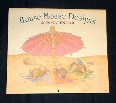 2008 HOUSE-MOUSE CALENDAR adorable mice, chipmunk, unmarked