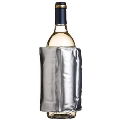 Silver Wrap Around Wine Cooler - Barcraft Insulated Sleeve Bottle Can Drink