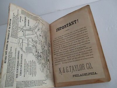 Rare 1876 Guide to PHILADELPHIA by N & G Taylor Co for Centennial Exposition