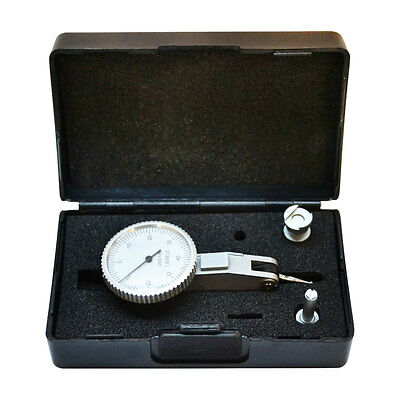 ".008"" 0-4-0 Dial Test Indicator Graduation .0001'' Set  Jewels White Face"