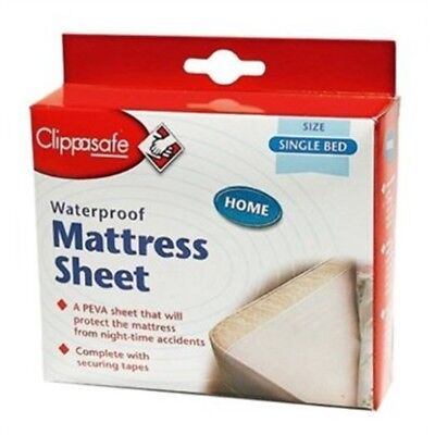 Single Bed Clippasafe Waterproof Mattress Sheet - Baby Toddler Water Resistant