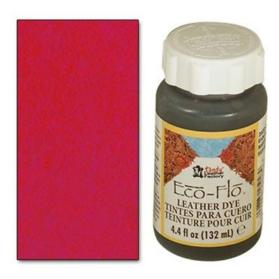 4 Unzen Scharlachrot Eco Leder Farbstoff - 4 Fl Oz 132ml Ecoflo Leather Dye