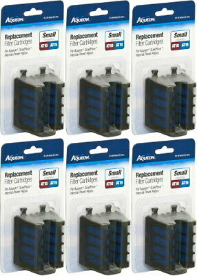 Aqueon Replacement Filter Cartridges AT10 & AT15, Small, 12ct (6 x 2ct)