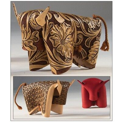 Folding Leather Bull Design Kit - Kittandy Craft 411200 Make Your Own Ornament