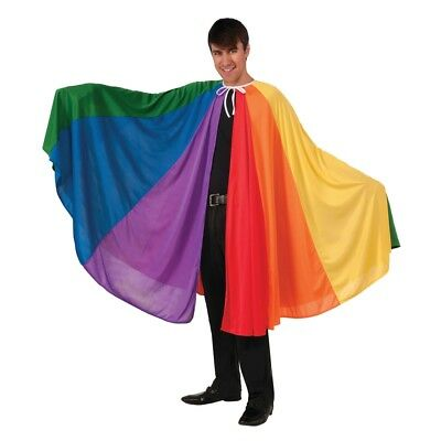 Adult's Rainbow Cape Costume - Fancy Dress Pride One Size Adult 74250 Cloak Gay