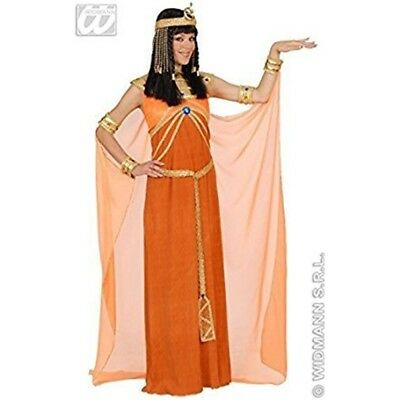 Ladies Queen Of Egypt Dress Orange Costume Large Uk 14-16 For Egyptian Ancient