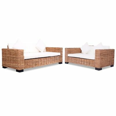 vidaXL 15-tlg. Sofa Set Rattan Natur Sofagarnitur Sessel Loungesofa Couch Set☺