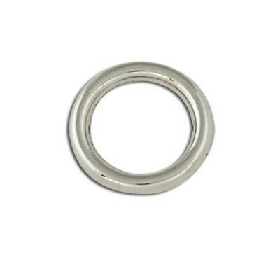 Decorative Solid Ring Npnf 4pk - Rings 1 2 Nickel Plated Tandy Leather