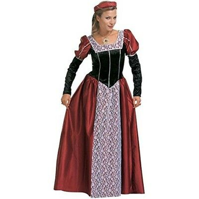 Ladies Castle Beauty Costume Large Uk 14-16 For Medieval Royalty Fancy Dress -