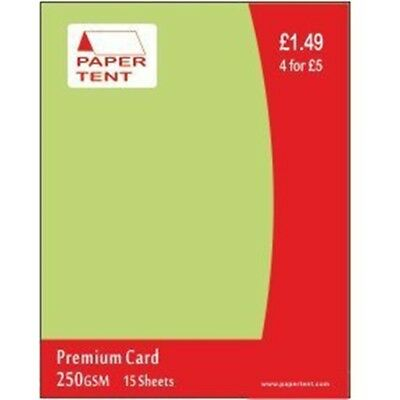 A4 250gsm Celery Green Premium Card Pack - Pastel Coloured Arts Crafts