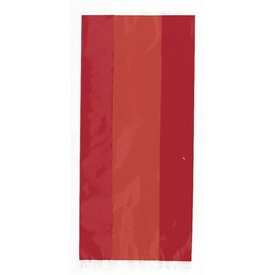 Sacs De Fête En Rubis Rouge De Cellophane, Paquet De 30 - Bags Party Gift